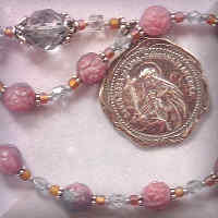 St. Rose of Lima chaplet and medal